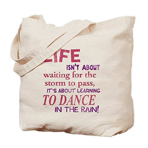 CafePress – La Vie n'est pas About Waiting For The Storm to pass tot – Naturel Sac en toile, tissu, Sac de courses