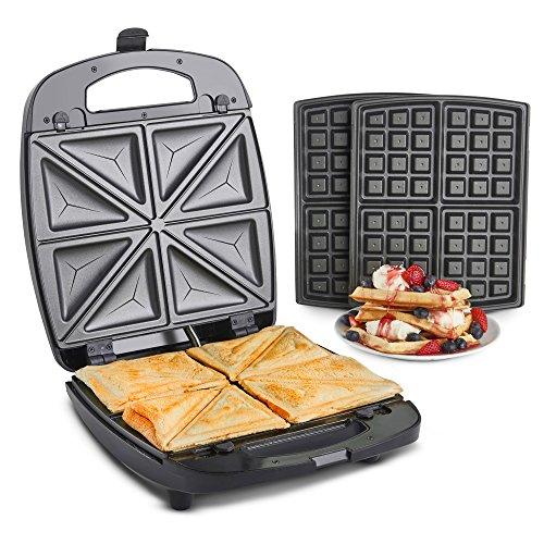 VonShef 2 in 1 Sandwich Toaster ...