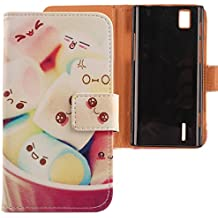 Lankashi PU Flip Funda De Carcasa Cuero Case Cover Piel Para Huawei Ascend P2 Lovely Design