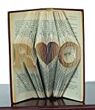 Folded Book Art - Anniversary Gift - 1st Wedding Anniversary -Gift for Him - Gift for Her - Wedding Present - Personalized Paper Gift