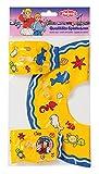 Heless 880 - Aufblasbarer Schwimmring mit zwei Schwimmflügeln für Puppen