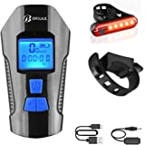 BIKUUL LED Bike Light USB Rear Bicycle Light Rechargeable Bike Tail Light and Front Light Set Cycle Headlight with Bicycle Sp