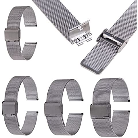 Buwico® 18/20/22/24mm in acciaio inox Watch Mesh BRACCIALI cinghie di ricambio Band