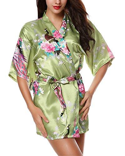 Avidlove Femmes sexy robe de nuit sous vêtements chemise de nuit couleurs multipliées Vert