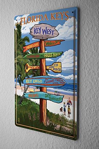 Blechschild Weltenbummler Florida Keys
