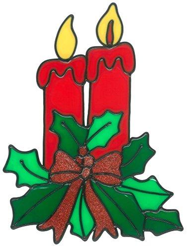 Finestra MagicGel immagini Natale-Composizione floreale (19x 25cm) Candele, decorazione per finestre per bambini