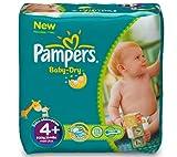 Pampers Baby-Dry Gröþe 4 Maxi plus (9-20 kg) - Vorteilspack für 1 Monat 152 Windeln