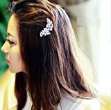 #2: ITS - 1pc Wedding Hair Accessories Accessories Silk Crystal Flower Hairpin Bridal Jewelery
