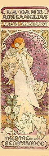 1art1 80523 Alphonse Mucha - Sarah Bernhardt, Die Kamelien-Dame, 1896, 1-Teilig Fototapete Poster-Tapete 250 x 79 cm