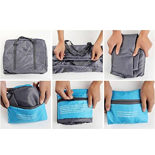 Tutoy Wasserdichte Reisetasche Large Capacity Aufbewahrungsbeutel Folding Handtasche Tragbare Tasche -Blue Orange