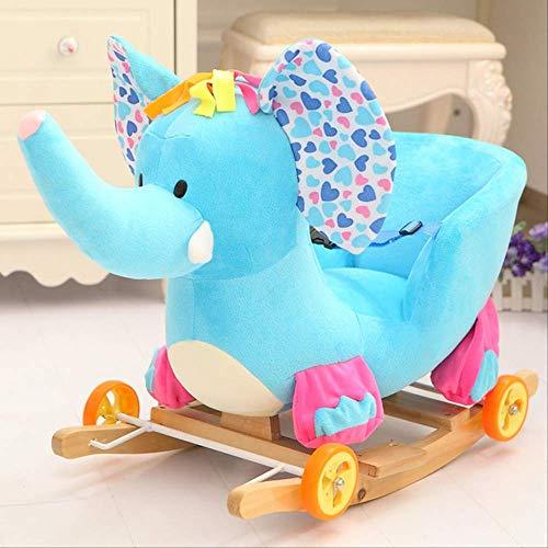 Kinder Rocking Chair Wbdd Kinder Rocking Tier Spielzeug Und Musik Bouncing Rollstuhl Kinderwagen D