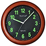 WOOD CRAFT wng-704w/b night glow clock (...