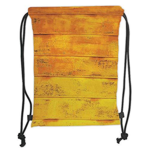 Juzijiang Drawstring Sack Backpacks Bags,Yellowhe Wooden Horizontal Background Texture from Oak Tree Timber Design for Lliving Decorative,Light Yellow Soft Satin,5 Liter Capacity,Adjustable. -