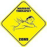 Wennuna Massage Therapist Zone en métal Aluminium fantaisie Sign 30,5x 30,5cm...