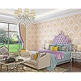 ورق حائط لخلفية غرفة المعيشة بنمط كلاسيكي اوروبي منحوت، مزين بنقشة ثلاثية الابعاد رائعة غير مستوية، ورق حائط لغرفة النوم بنمط