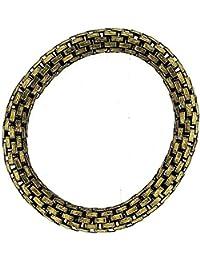 The Olivia Collection Goldtone Maximum Metal 8mm Elasticated Stretch Bracelet