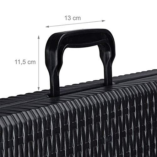 MaxxGarden Table Pliante d'appoint - Portable pour Camping ou réception - 180 cm - Noir Ratan Look