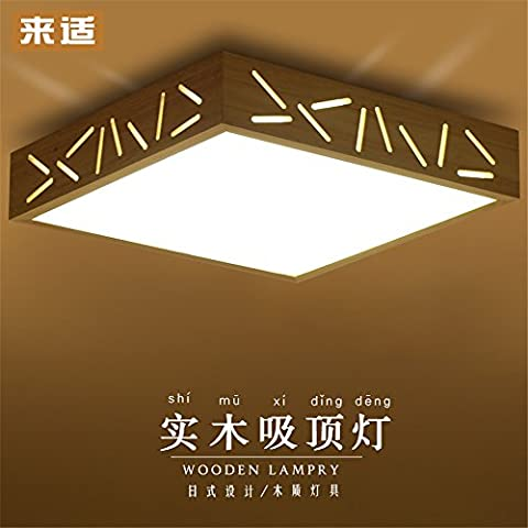 BRIGHTLLT Kreative Holz- DECKENLEUCHTE LED-minimalistischen modernen chinesischen Zeichen Holz- Wohnzimmer Licht Lampen, Schlafzimmer, 450 mm