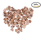 CosCosX 100 PCS Rustic Wooden Love Heart Wedding Table Scatter Decoration Crafts