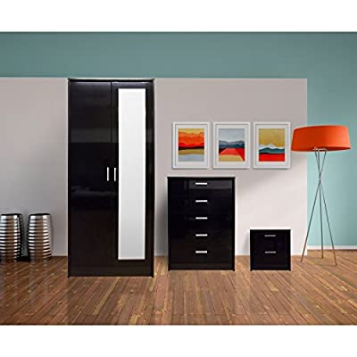 Direct Furniture Suppliers Khabat 2 Door Mirrored 3 Piece Set produced by Direct Furniture Suppliers LTD - quick delivery from UK.