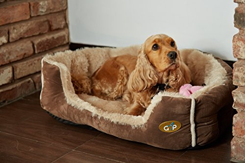 Gor-Pets-Nordic-Soft-Snuggle-Dog-Cat-Bed-Washable-20-inchBrown