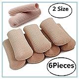 Protezione della fodera in gel in tessuto a punta aperta, sviluppo tra callo e vesciche, ammorbidisce e lenisce la pelle 6 pezzi in 2 diverse dimensioni