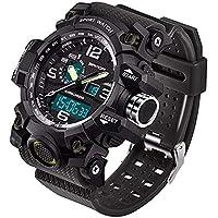 WMWMY LED Électronique Men's Sports Watch Chronograph Date Semaine Afficher Horloge Montre Militaire Armée Mâle