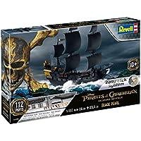 Revell 05499 - Modellbausatz Schiff 1:150 - Piratenschiff BLACK PEARL im Maßstab 1:150, Level 3, orginalgetreue Nachbildung mit vielen Details, Segelschiff, Fluch der Karibik, Pirates of the Caribbean