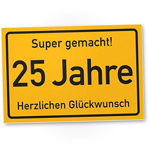25 schild test wasserlebnis - Geburtstagskarte 25 geburtstag ...