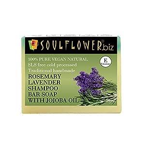 Soulflower Shampoo Bar Rosemary Lavender And Jojoba, 150g
