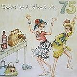 Twist and Shout zum 75. Geburtstag Karte