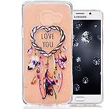 Coque Samsung Galaxy A3 2016, Aeeque® Luxe Impression Dessin de Plume Campanule Anti-Choc Transparente Coque Doux Silicone TPU Housse pour Samsung Galaxy A3 2016 SM-A310 4.7 pouces