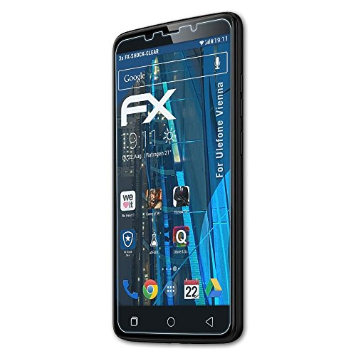 atFolix Schutzfolie kompatibel mit Ulefone Vienna Panzerfolie, ultraklare & stoßdämpfende FX Folie (3X)
