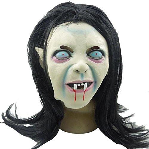 ShiyiUP Latex Maske für Halloween Party Cosplay Kostüm