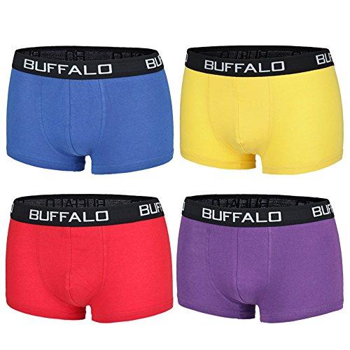 Buffalo Herren Hipster, Boxershorts (L, Farbkombination 4)