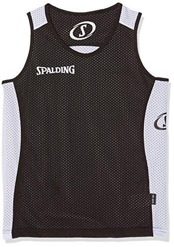 Reversible Kostüm Kinder - Spalding Herren Essential Reversible Shirt, Mehrfarbig (Schwarz/Weiß), 164