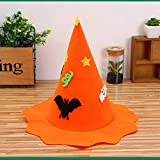 Xsj Kürbis Hat Vliesstoff-Kinder Show Fledermaus Kopf Hat Headdress Halloween Party Dekoration,Orange