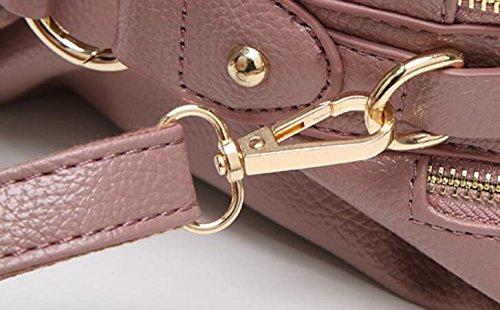 FZHLY Primavera E L'estate Nuova Europei E Americani Femminile Moda Tracolla Messenger,Pink Grey