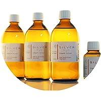 Preisvergleich für PureSilverH2O 1600ml Kolloidales Silber (3X 500ml/10ppm) + Flasche (100ml/50ppm) Reinheit & Qualität seit 2012