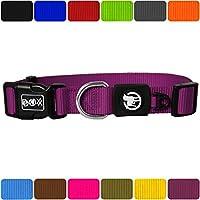 [Gesponsert]DDOXX Hundehalsband Nylon   für große, mittelgroße, mittlere & kleine Hunde   Halsband Hund   Hundehalsbänder   Katzen Halsbänder   Katzenhalsband   Zubehör   Lila, XS - 1,0 x 21-30 cm