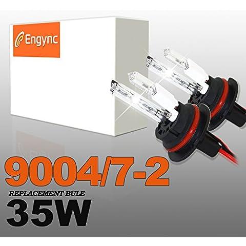 Engync 35W 9004 HID Xenon alogena (HB1) Lo / Hi lampadine di ricambio | Hi / Low bianco del diamante / Hyper bianco / puro colore bianco (6000K)
