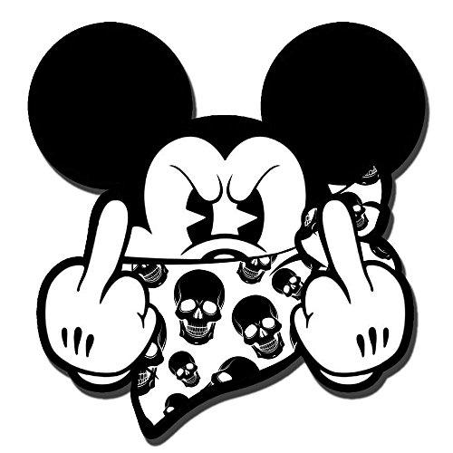 SkinoEu 2 x PVC Laminado Pegatina Adhesivos Mickey Mouse Dedo...