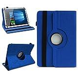 NAmobile Odys Titan 10 LTE Tablet Schutzhülle Filztasche Cover Universal Tasche Case Etui 360° drehbar, Farben:Blau