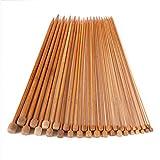 18 paires Aiguilles Bambou a Tricot Laine 2-10 mm /Longueur 35cm