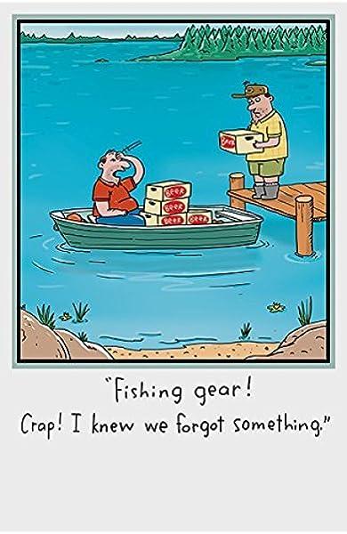 Fishing Fisherman Husband Boyfriend Son Dad Brother Uncle Funny Birthday Card