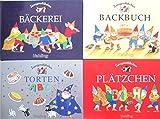4 Bände ZWERGENSTÜBCHEN: Plätzchen; Torten ABC; Backbuch; Bäckerei.