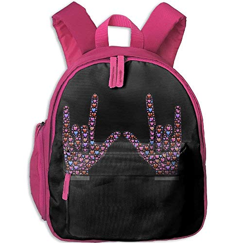 c2321660d260 Funny Schoolbag Backpack Express Love In The Form Of Rock And Roll Toddler  Kids Pre School