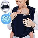 Écharpe de portage bleu marine - porte-bébé de haute qualité pour  nouveau-nés bbe95b48292