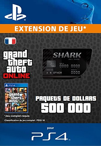 Grand Theft Auto Online | GTA V Bull Shark Cash Card | 500,000 GTA-Dollars | Code Jeu PS4 - Compte français