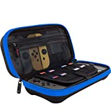 ButterFox Deluxe Nintendo Switch Travel Bag Case with Storage Room for Official AC Adapter and 9 Game Card Slots - Blue/Black